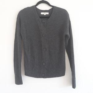 Loft Ann Taylor wool blend cardigan button down M